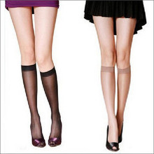 2016 Summer ultra-thin transparent knee-high socks female stockings knee-high stockings socks double ollif74m 5