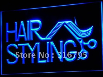 i517-b Hair Styling Salon Cut Shop NEW LED Neon Light Sign