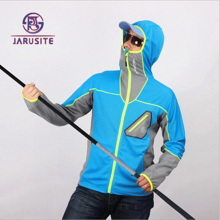 Top quality large size Outdoor clothing new ultra-thin ice silk fabric wicking UV sunscreen clothes fishing clothes(China (Mainland))