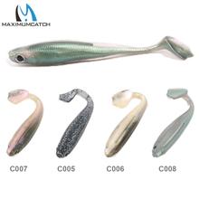 Maximumcatch 6Pcs/lot Soft Fishing Lures Minnow Bait 95mm 6g Jerkbait Soft Bait Paddle Tail Lures(China (Mainland))