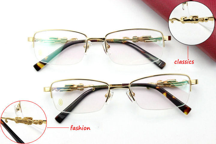 2016 pure titanium glasses frame  leopard head Myopia presbyopic glass half metal frame wholesale YJ102Одежда и ак�е��уары<br><br><br>Aliexpress