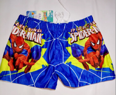 2015 Baby Boys Spiderman Swimwear Summer Kids Swimming Trunks Children Beach Bathing Swimsuit Character Swim Short(China (Mainland))