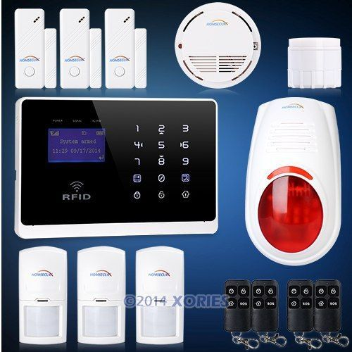 Wireless GSM Home Security Alarm System Support EN, RU and IT Voice plus Flash Siren and Smoke Sensor Supports APP(China (Mainland))