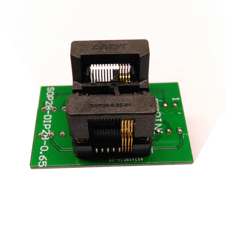 SSOP8(28)-0.65 SSOP8 TSSOP8 to DIP8 Programming Socket Pitch 0.65mm IC Body Width 4.4mm 173mil Flash Test Socket Adapter