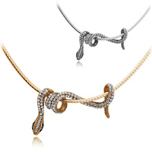 Quality hot-selling full rhinestone small necklace – 2965 zodiac snake