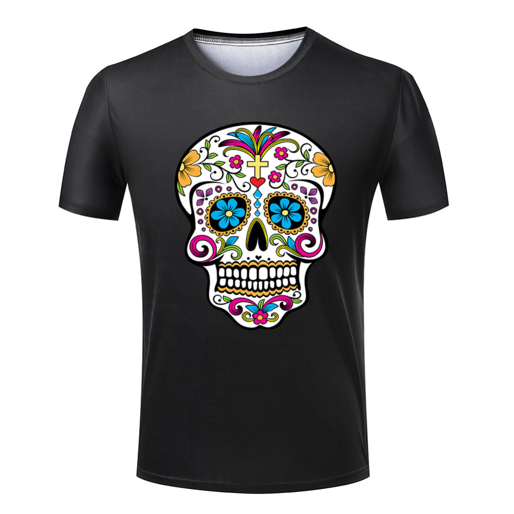 New cheap t shirt men mexican skull fashion round neck for Best inexpensive dress shirts
