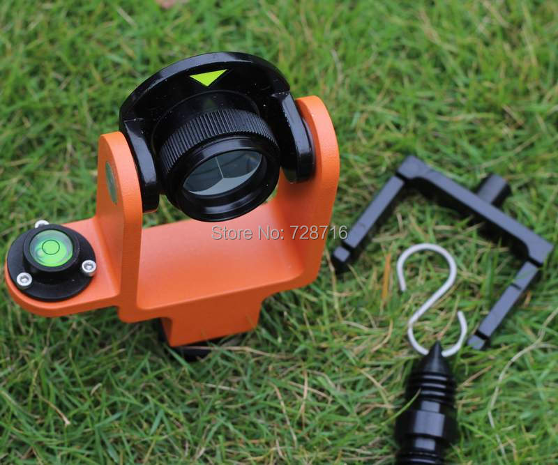 Retail/ Wholesale NEW ALL METAL MINI PRISM WITH SOFT BAG FITS SOKKIA AND TOPCON TOTAL STATIONS , Free Post shipping(China (Mainland))