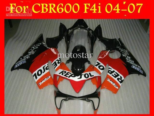 REPSOL Fairing kit for Honda CBR600 CBR 600 F4I 04-07 2004 2005 2006 2007 Hot Sale+Windscreen(China (Mainland))
