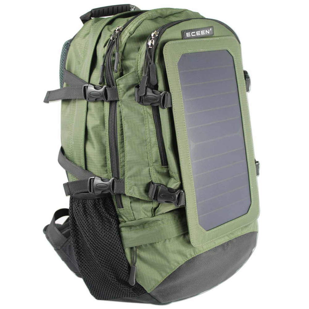ECEEN 7Watts Solar Backpack, Hiking Backpack Bag, Nylon Materials, Solar Charger for Cell Phones and 5V Devices(China (Mainland))