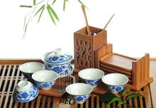 8pcs Delicate Tea Set,Qinghua Teapot,Blue and White Porcelain Teaset,A3TQ07, Free Shipping