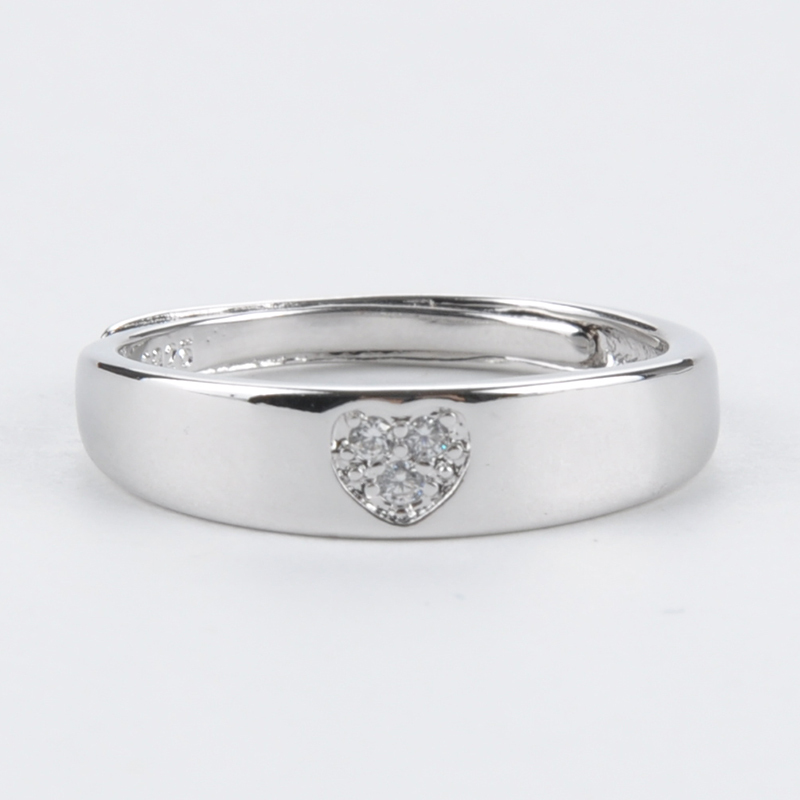 Fine Ring Jewelry 925 Platinum Plated Open Finger Ring Couple Jewelry Rhinestone Ring PMZ264*53(China (Mainland))