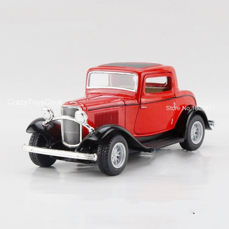 Freeshipping Children Kids Kinsmart 1932 Ford Model Car 1:34 KT5332 5inch Diecast Alloy Cars Toy Pull Back Doors Openable Gift(China (Mainland))