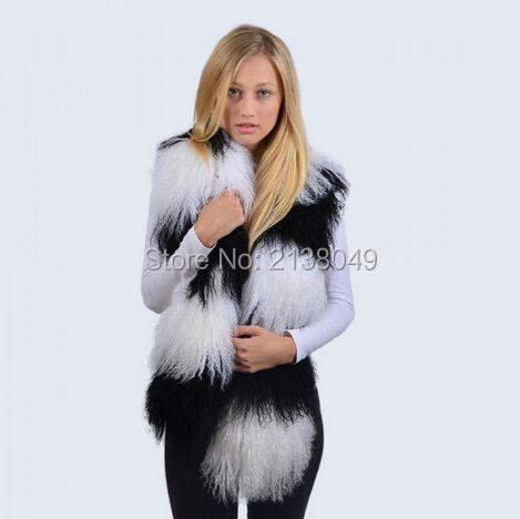 Fs031 150 * 16 см различных цветов комбинат шарф монгольских овец меха Scarves / монголия