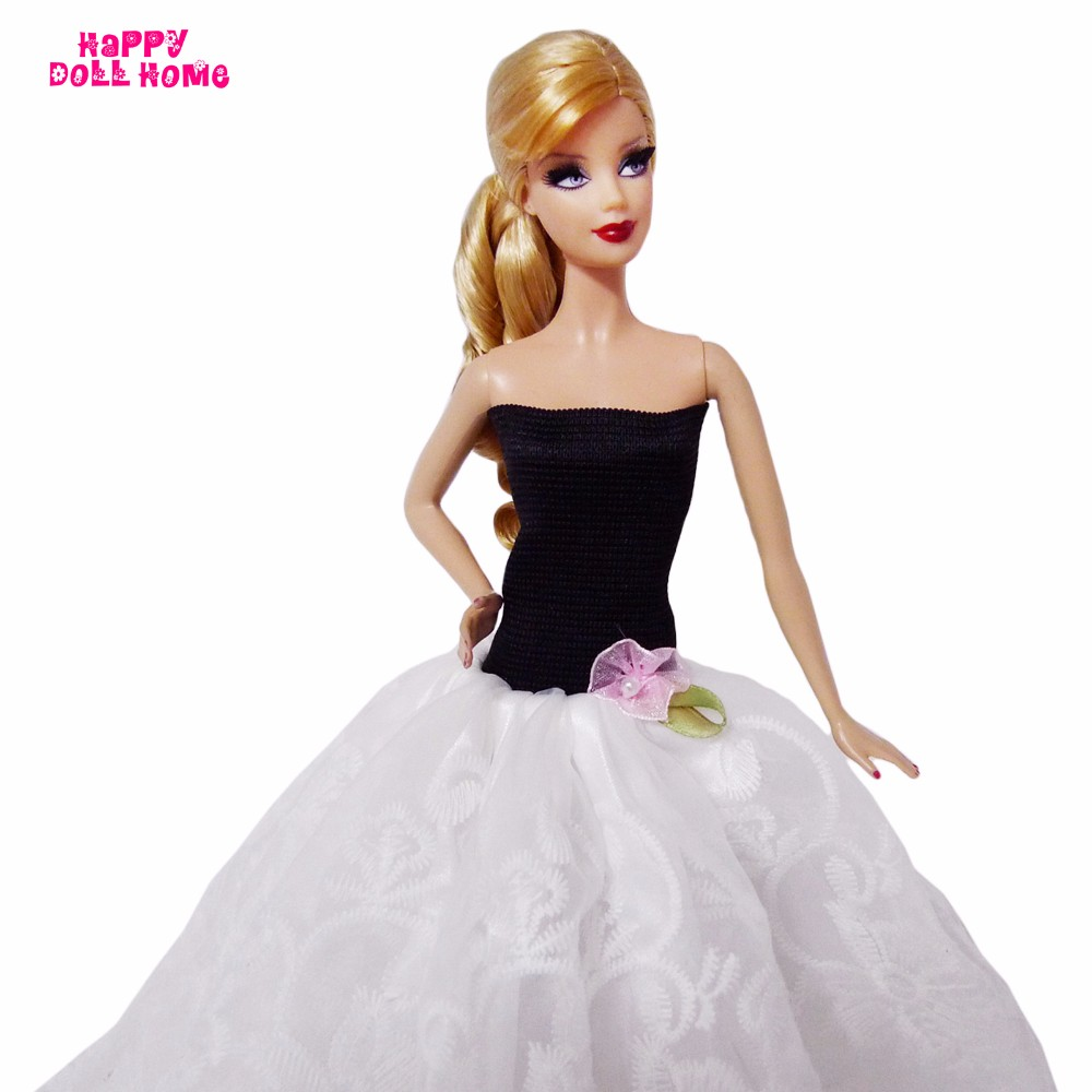 Handmade Vogue Gown Wedding ceremony Dinner Get together Robe Princess Garments For Barbie Doll FR Doll 11.5″ 12″ Puppet Dollhouse Equipment