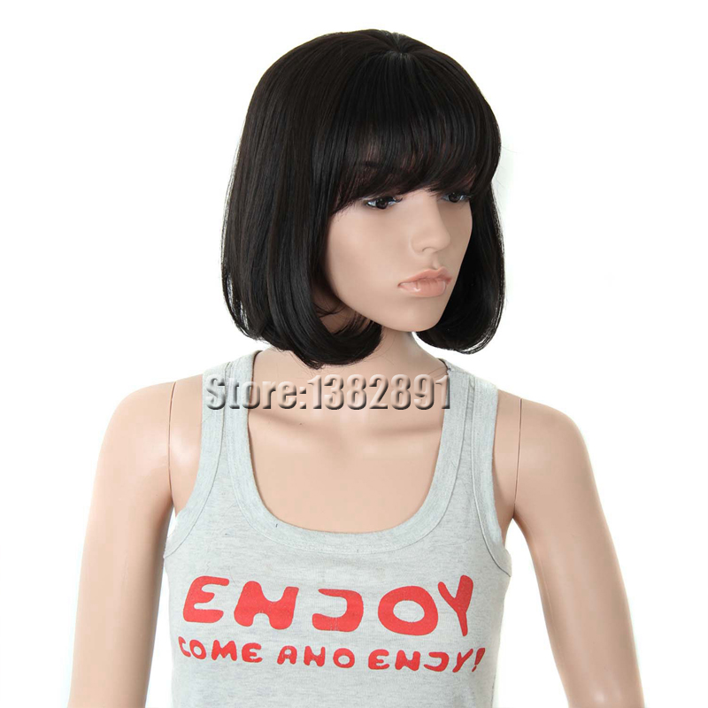 Short Straight Bob Wigs For Black Women Celebrity Synthetic Bob Wig With Bangs Honey Brown Cheap Synthetic Hair Wigs For Sale<br><br>Aliexpress