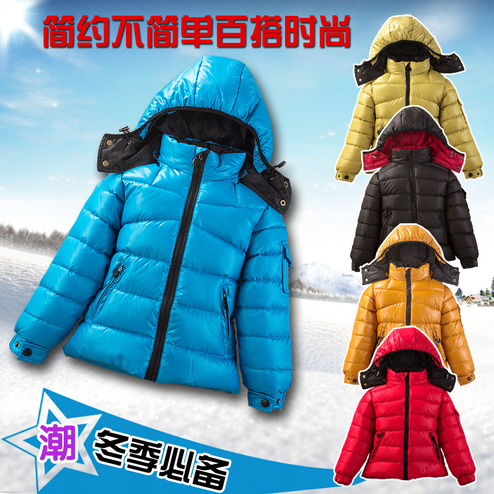 free Shipping 4-6-8 New Children Down Jacket Free Year Old Children's Clothes To Keep Warm Jacket(China (Mainland))