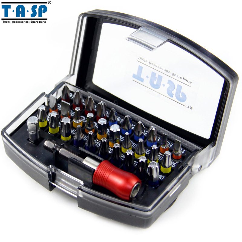 tasp 32 pieces in 1 professional screwdriver bits set ph pz sl hex torx with magnetic 1 4. Black Bedroom Furniture Sets. Home Design Ideas