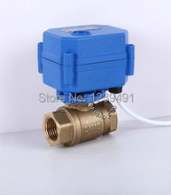 "Motorized Ball Valve 3/4"" DN20 DC12V CR-01/CR-02/CR-05 Wires Brass Electric Ball Valve(China (Mainland))"