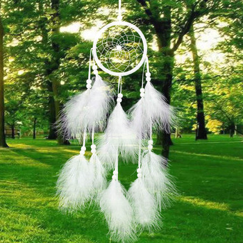 Newest Handmade Dream Catcher Net With feathers Hanging Decoration Decor Craft Gift