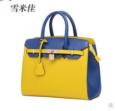 Women's handbag 2014 fashion female bags platinum color block handbag cross-body shoulder bag