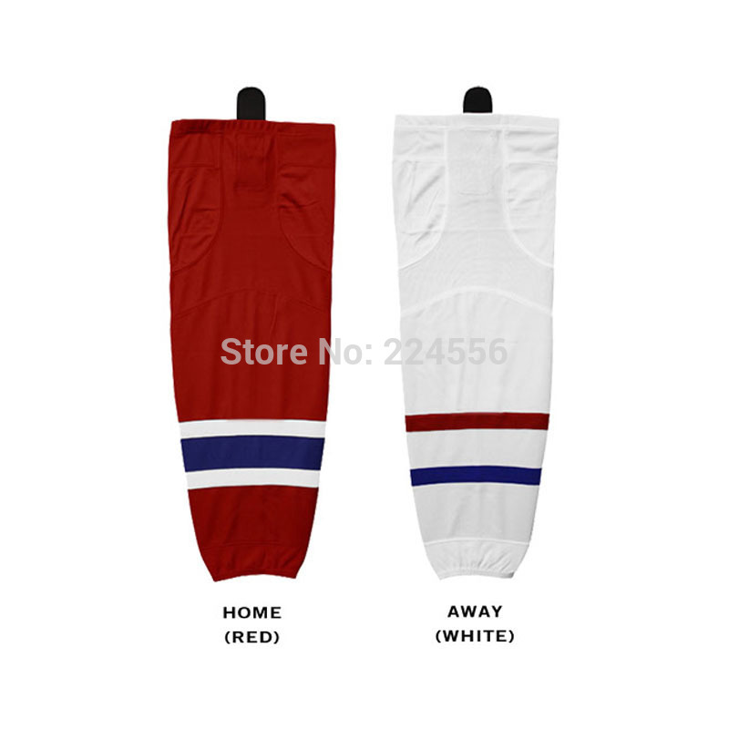 mens montreal canadiens adult ice hockey socks Equipment Team home/away/third hockey socks-can be Custom Any Team & Color & Size(China (Mainland))