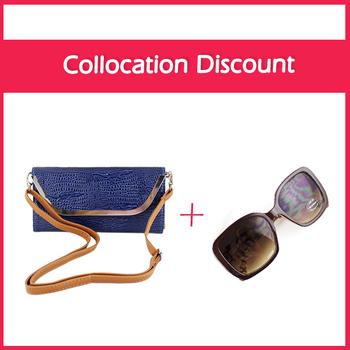 Купить получить один бесплатный твердые плече сумки синий цвет мягкий Pu кожа щитка карманный засов сумки для женщин