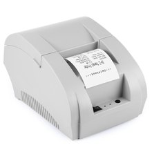 Hot-selling ZJ - 5890K Mini 58mm Black and White Manual POS Receipt Universal Ticket Thermal Printer with USB Port EU PLUG(China (Mainland))