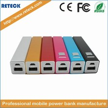 factory power supply 2800mah metal case pocket usb portable external battery for mobile phone