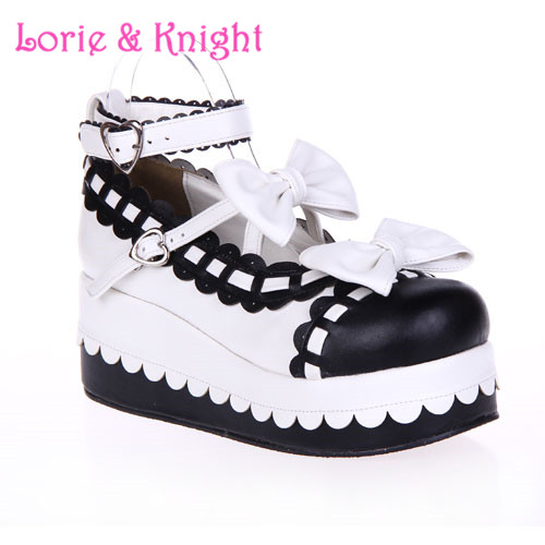 Princess Girls Sweet Bows Wedge Heels Lolita Shoes Platform Winter Shoes Many Colors and Sizes Available<br><br>Aliexpress