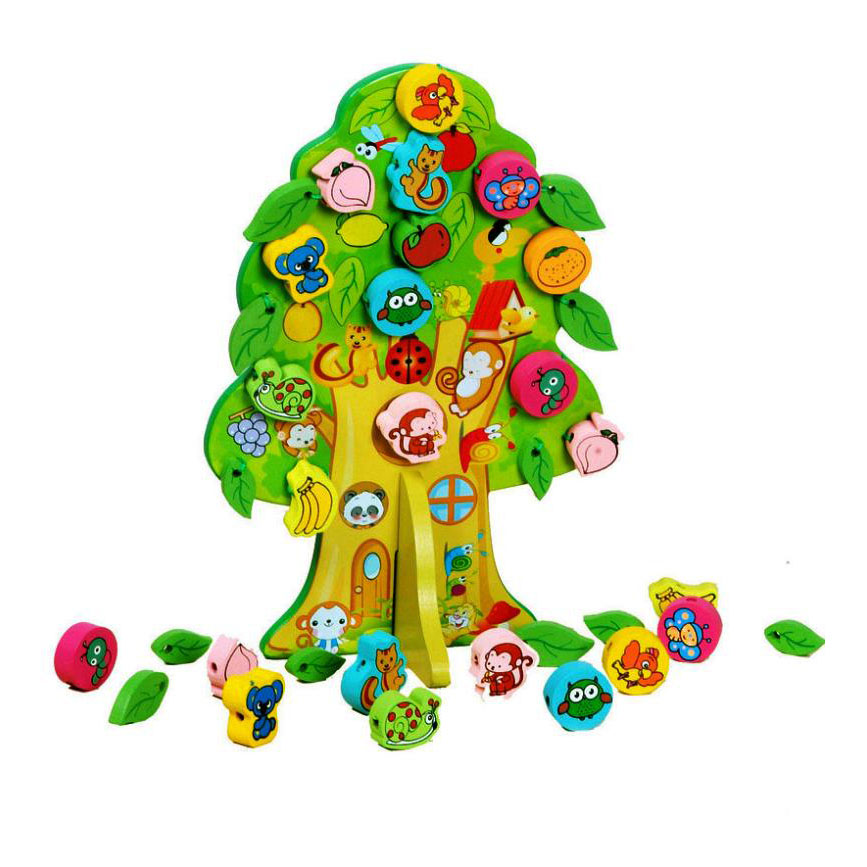 DIY Fruit Tree Beaded Toys Hand-beaded Amblyopia Training Toy Improve Babys hand-eye Coordination and Concentration 10805<br><br>Aliexpress