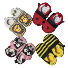 Soft Cartoon Baby Boys Girls Infant Shoes Slippers 0-6 6-12 New Style First Walkers Cotton Skid-Proof Kids Shoes(China (Mainland))