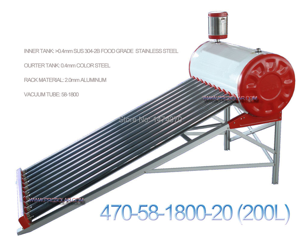 200L non-pressuried solar water heater for home-use system (470-58-1800-20)(China (Mainland))