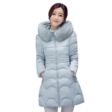 2016 3XL Hooded Parka Top Quality Brand Ladies Long Winter Overcoat Women 90% White Duck Fur Down Coat With Bag ladies' Jackets(China (Mainland))