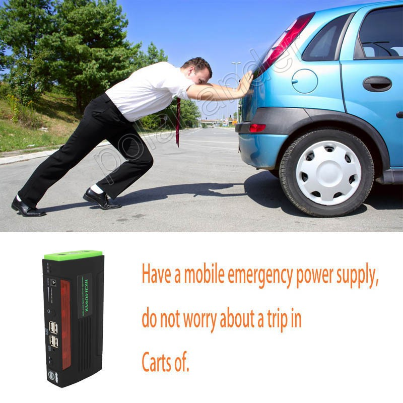 Car power bank car Jumper starter 68800 mAh high capacity auto battery Car Power Bank 12 v Engine Green  color