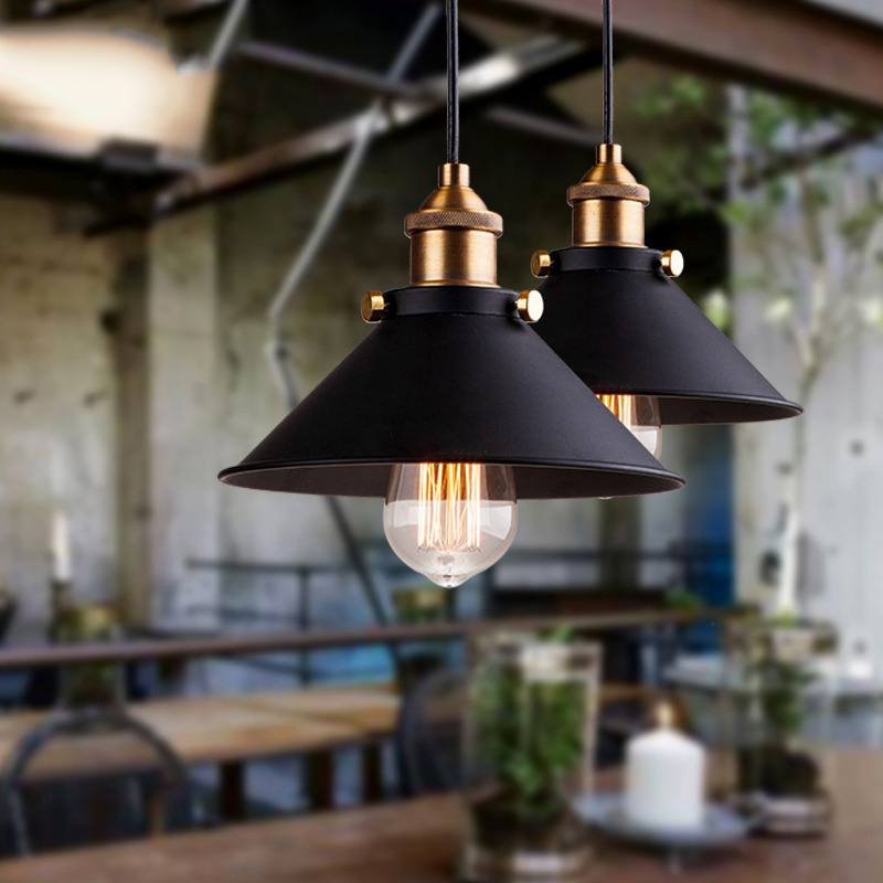 black vintage industrial pendant light nordic retro lights iron lampshade loft edison lamp metal cage dining room Countryside(China (Mainland))