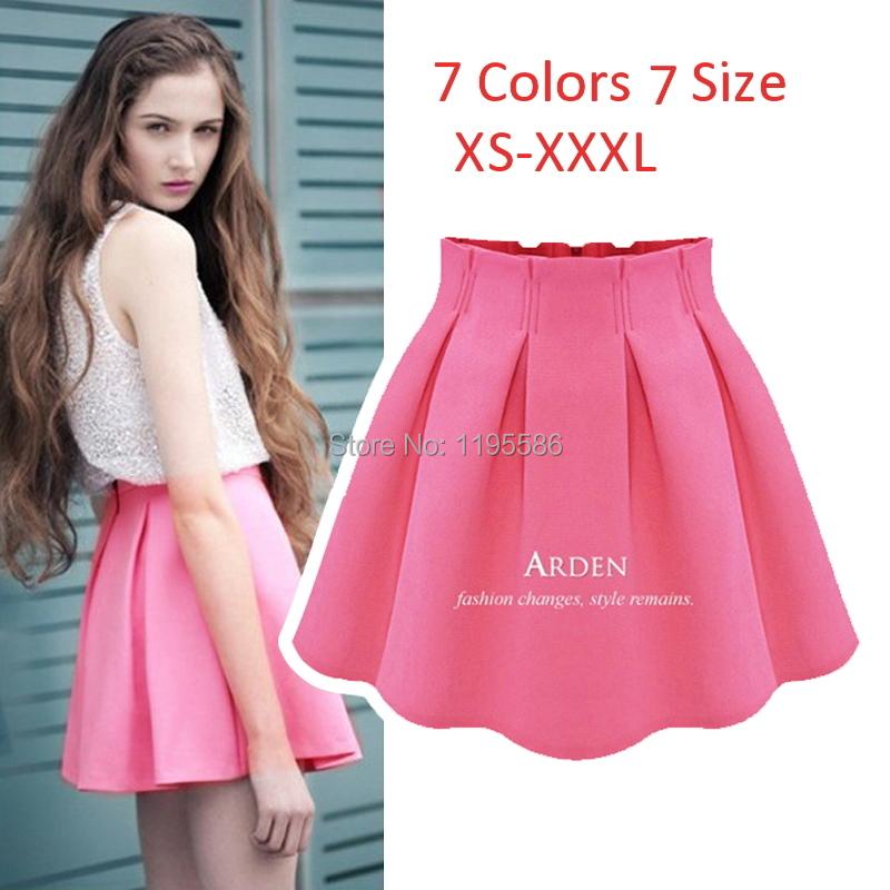 Women's Fashion Sexy Mini Skirt High Waist Pleated Short Skirt For Female 2015 Summer Ladies Casual Tutu Skirts saias Femininas(China (Mainland))