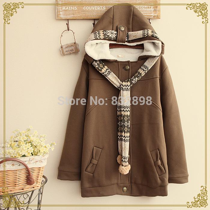 Warm Winter Coat Thick Cotton Lolita Kids Girls Coats