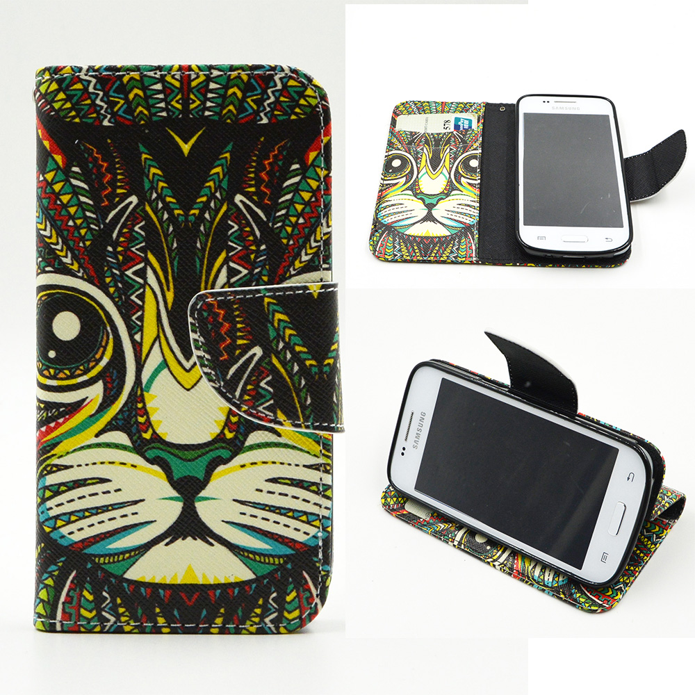 For Samsung Galaxy Star Advance G350E Core Plus G3500 Trend 3 Star 2 Plus SM-G350 Painting TPU Back Box Flip Phone Leather Case(China (Mainland))