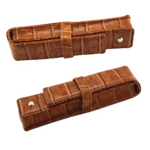 Buy 1pcs Luxury coffee leather bag office special MB pen case Wholesale Price for $3.23 in AliExpress store