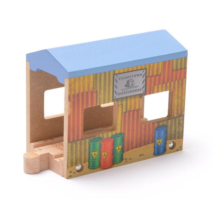 Christmas Gift Thomas Oil Barrel Tunnel fit Thomas and Brio Wooden Train Educational Boy/ Kids Toy(China (Mainland))