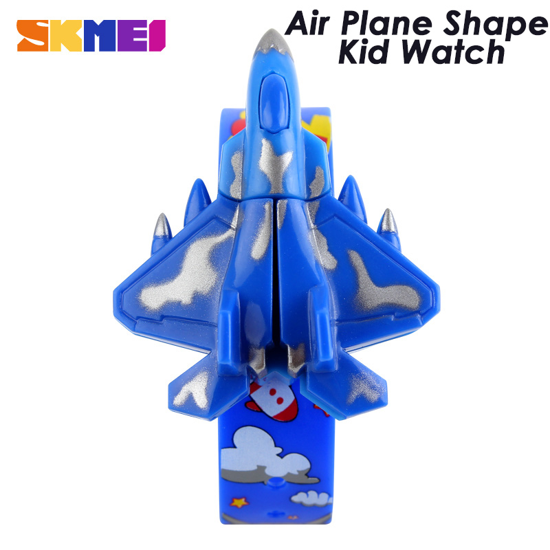 SKMEI New Kid Toys Watch Unique Desgin Air Plane Shape Fashion Children Watches