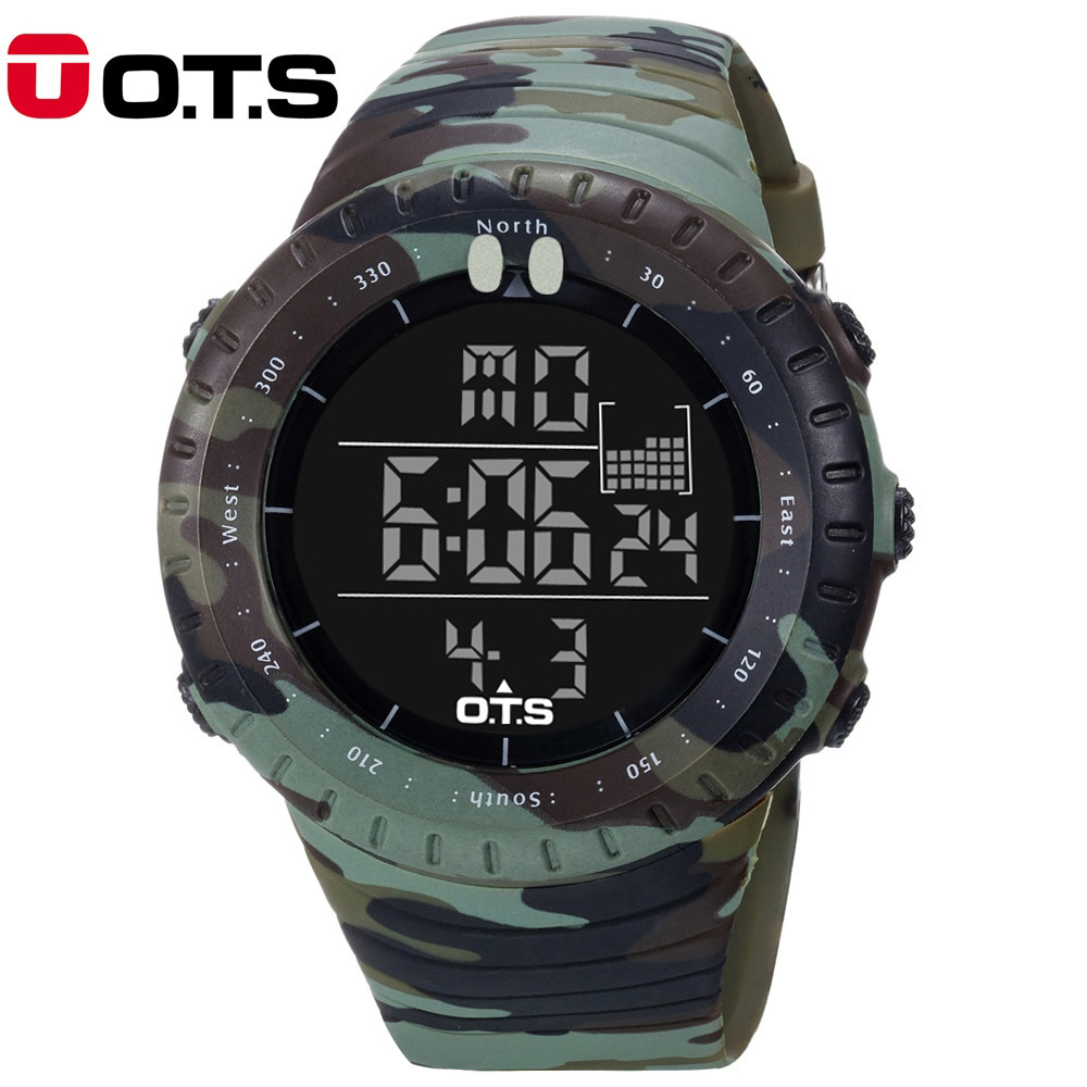 OTS Mens Military Army Watches Top Brand Luxury Digital Sport Men Led Watches clock Relogio Masculino Wrist Watches For Men 2017(China (Mainland))