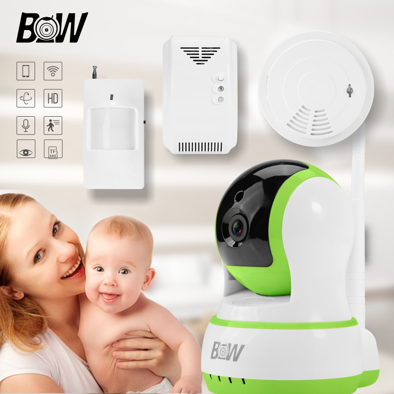 BW Wireless Wifi Automatic Sensor Alarm Systems Security Home CCTV New IR-Cut Night Vision Mini IP Camera   Support iOS,Android<br><br>Aliexpress