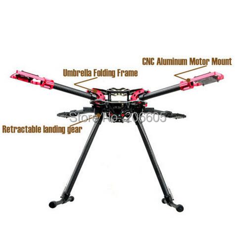 HMF U580PRO Quadcopter Umbrella Structure Folding Frame w/ Electronic Landing Gear for FPV Photography(Hong Kong)