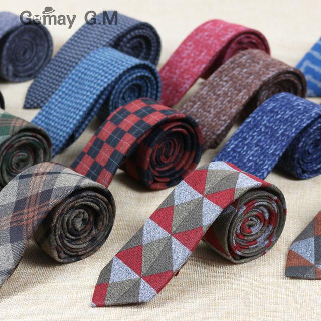 Мода Тощий Хлопок Шерсть галстуки для мужчин На Заказ Фирменное наименование Проверено ...