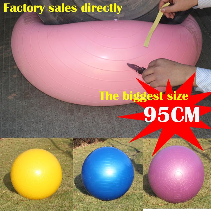 2015 new thickening high quality 95cm Home Gym Exercise Pilates ball gym Swiss Yoga Ball Pump 4 Colors(China (Mainland))
