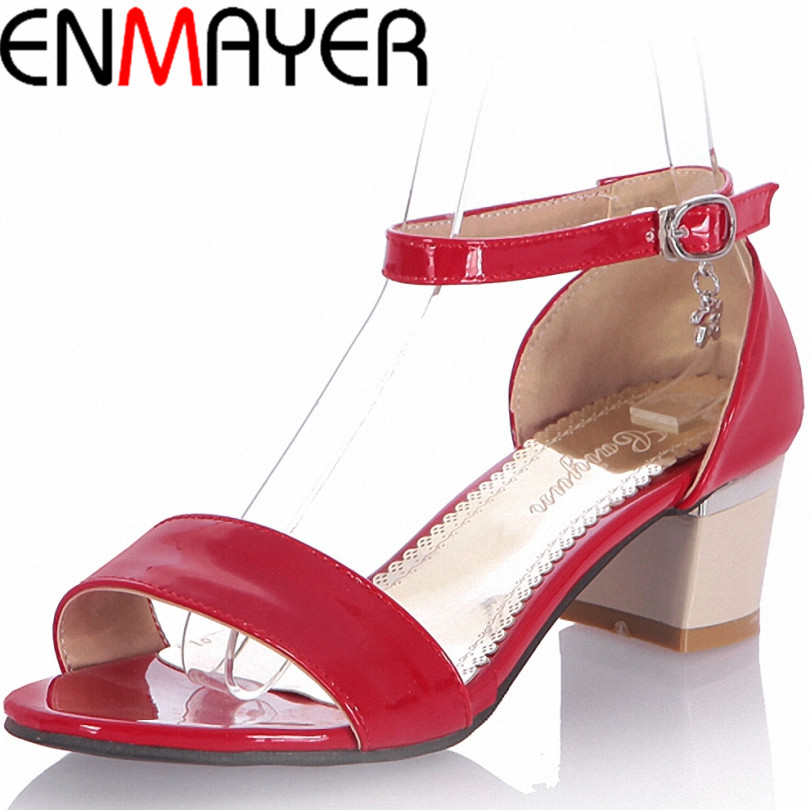 ENMAYER  women Sandals fashion High-heeled Sandals Women's Shoes sexy Summer sandals  Open-toed shoes women