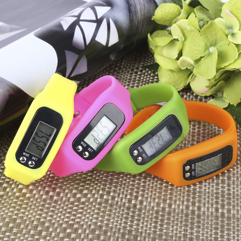 Digital LCD Pedometer Run Step Calorie Counter Walking Distance Electronic Counter Strap-hand Pedometer Sport Bracelet Watch(China (Mainland))