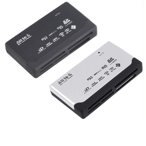10pcs lot USB 2 0 ALL IN 1 Multi CARD READER SD XD MMC MS CF