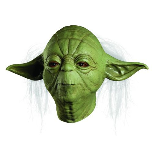 adult size Star Wars JedtI Yoda Deluxe Overhead Hallween Costume Latex Mask Adult One Size(China (Mainland))